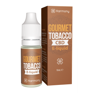 gourmet tobacco harmony CBD e-liquid bottle