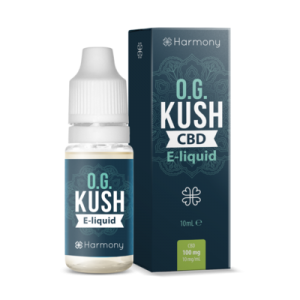 bottle of OG kush CBD e-liquid