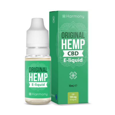 Harmony original hemp CBD vape juice bottle