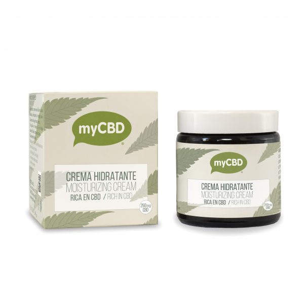 tub and packaging of MyCBD cream